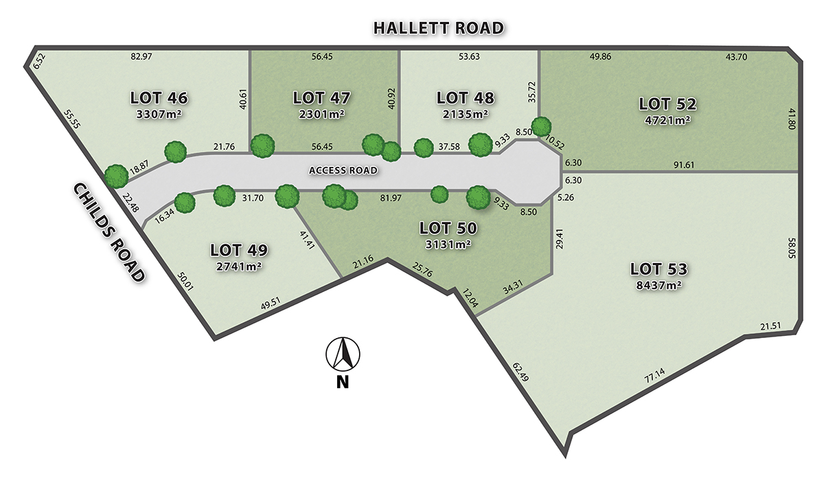 Adelaide Hills Business Park Proposed Lot Layout (*subject to change)